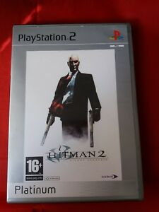 HITMAN 2 SILENT ASSASSINS PLATINUM RELEASE PLAYSTATION 2 GAME WITH BOOKLET 16+