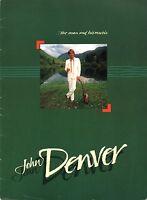 JOHN DENVER 1985 DREAMLAND EXPRESS UK TOUR CONCERT PROGRAM BOOK / VG 2 EX