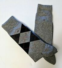 Tommy Hilfiger Mens 1 Blue Gray Argyle 1 Gray Dress Trouser Socks 2 Pair