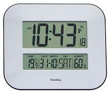 Jumbo Lcd controlados por radio Reloj De Pared Con Temperatura Y Humedad Pantalla