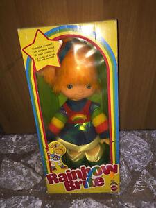"""Mattel RAINBOW BRITE 18"""" Large Doll MIB, 1983 Vintage"""