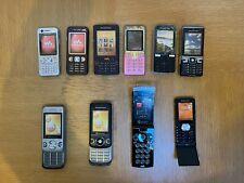 10 x Sony Ericsson Retro Dummy Mobile Phones Job Lot W890 W950 T650 K850 W980