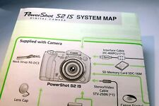 Canon PowerShot S2 IS camera System Map quick set up guide (one sheet)