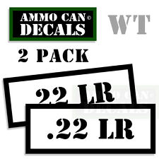 22 LR Ammo Ammo Decal Sticker bullet ARMY Gun Can Box safety Hunting 2 pack WT