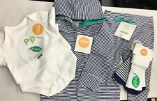 Gymboree Brand New Baby Boy 3-6 Mo 4 Pc Outfit Set ABC Alphabet Sweet Pea