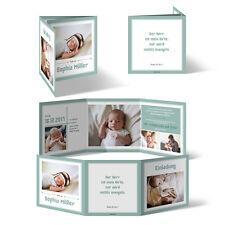 Taufeinladungen   Bildreich Im Wickelfalz   Taufkarten Taufe  Einladungskarten