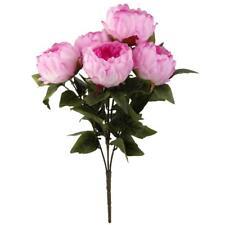 Artificial Peony Silk Flower Bush Bouquet Wedding Party Decor Rose Red