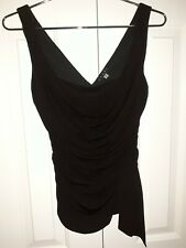 Coast Black sleeveless ruched top. Draped, Stretch, Party, Evening. Size 8