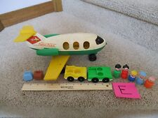 Vintage Fisher Price Little People Airplane plane 183 lot stewardess luggage E
