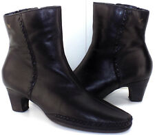 PIKOLINOS Black Leather Weave Ankle Boots Women's 37 US Shoe Size 7M