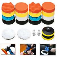 Car Buffing Pads Polishing Waxing Sponge Buffer Set Foam Polisher Kit for Drill