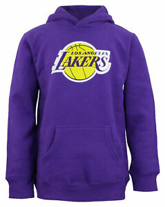 Outerstuff Los Angeles Lakers NBA Boys Youth Pullover Fleece Hoodie, Purple