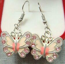 Simple Drop Elegant Women Earring t 925 Silver Plated Hook 2.1 butterfly Animals
