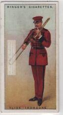 Slide Trombone Brass Telescoping Slide Mechanism Music Instrument 1920s Ad Card