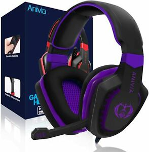 Gaming Headset Noise Isolating Over Ear Headphones BLUE OPEN BOX