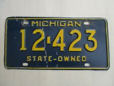 1965 Michigan State Owned License Plate Tag