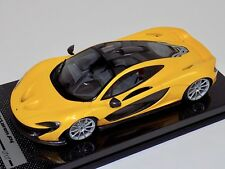 1/18 Tecnomodel McLaren P1 in Gloss Yellow with Silver wheels one off Carbon