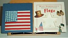 Vintage 90s American Country Flags 1st Edition Hard Cover Book w Keepsake Sleeve