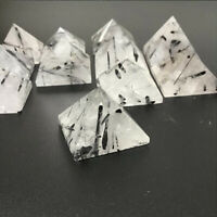 1pc Black Tourmaline Pyramid Natural Quartz Crystal Tower Healing Energy Chakra