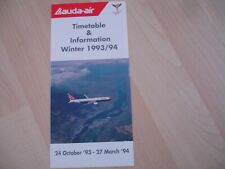 More details for lauda -air  1993/94 timetable