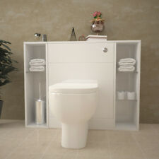 Bathroom Fitted Furniture 1000mm Patello BTW Combi Unit White with-out Toilet