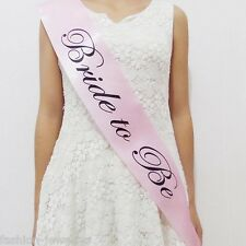 1Pc Pink Bachelorette Party Sashes Bride to Be Sash Maid Honor Bridesmaid Supply