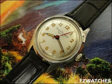 Exquisite 1960s Vintage Mans Girard-Perregaux Gyromatic, Stunning Silver Dial!