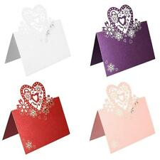 Wedding Party Favor Love Heart Table Name Cards Gift Decor Tags Standing Label