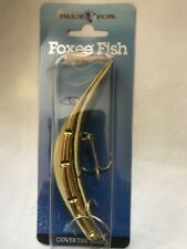 Blue Fox    Foxee Fish    Super Wobbler    Gold  / Holographic Back