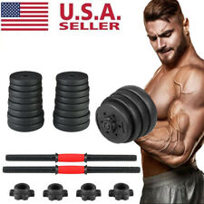 New Dumbbell Adjustable Weight Set Fitness GYM Home Barbell Plates Body Workout