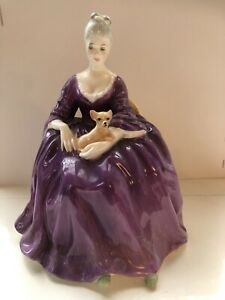 Royal Doulton Charlotte With Chihuahua Figurine