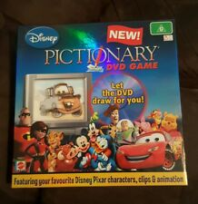 Pictionary Disney Kids Family DVD Board Game - Mattel 2007 - free shipping
