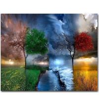 50cmx40cm Tree DIY Paint By Number Kit Digital Oil Painting Art Wall Home AGW