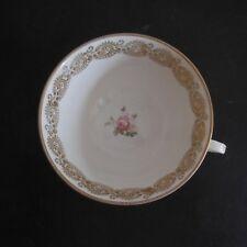 Céramique porcelaine tasse dorure or fin fait main FD XXe art nouveau PN France