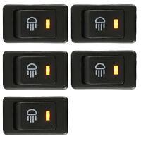 5 X Car 12V 35A Fog Light Button Rocker Toggle Switch 4Pin Yellow LED Dash Sales