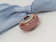 Genuine Pandora Murano Glass Bead Pink Ribbon 790617