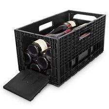 Cabka trasportabile in Plastica Vino Scatola x 1-NERO (12 bottiglia di archiviazione)