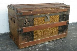 Early 1900s Travel Trunk Blanket Chest 2138
