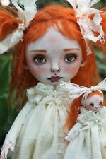 ooak art doll horror girl A. Gibbons Lil Poe fairy tale monster