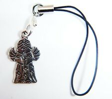 Antique Silver Guardian Angel Phone Charm FREE Gift Bag iphone Samsung Hauwei