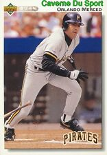 517 ORLANDO MEROOKIEED PITTSBURGH PIRATES BASEBALL CARD UPPER DECK 1992