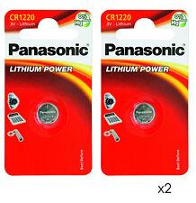 GENUINE 2X PANASONIC CR1220 3V LITHIUM COIN CELL BATTERY1220 DL1220 BR1220