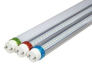 LED T8 Tube light 8ft 240cm direct replacement cool white frosted lens 5500K