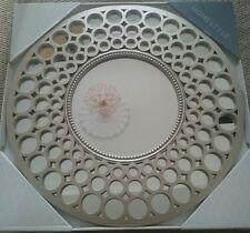 LARGE 63CM ROUND MOROCCAN STYLE SILVER WALL MIRROR NEW