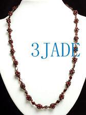 "26"" Natural Garnet Beads Necklace"