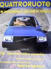 Quattroruote 250 1976 Nuova Volvo 1400cc automatica. Com'è Alfasud Sprint [Q93]