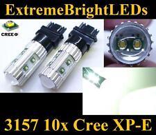TWO Xenon HID WHITE 50W High Power 3156 3157 10x Cree XP-E Turn Signal Lights