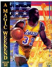Fold out>A Magic Johnson Weekend August 15~16 1992 L.A. Lakers NBA Basketball