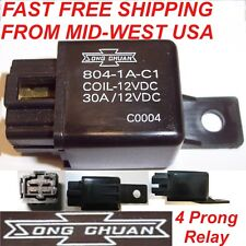 1 x Song Chuan Power Relay Only 12V 804-1A-C1 30A Coil=12VDC FAST USA Shipped!!
