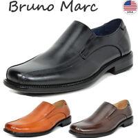 BRUNO MARC Men's Slip On Loafer Shoes Classic Square Toe Formal Dress Shoes